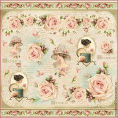 DFT261 Винтажные розы         1 /0 Фото не передало цвета, цвет более насыщенный и яркий(розовый нежный)