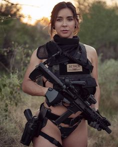 Female Soldier, Tactical Gear, Bangs, Pin Up, Army, Gun, Bang Bang, Weapons, Women