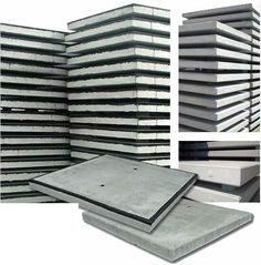 Stelconplaten 200x200x14 cm zijn te verkrijgen met een stalen en rand en zonder stalen rand.