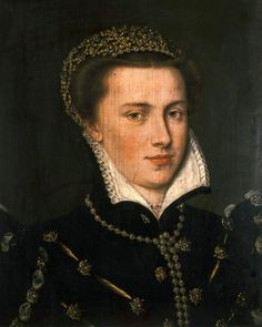 Portrait of Agnes von Mansfeld-Eisleben, ca. 1570, by an unknown master painter from northern Rhineland