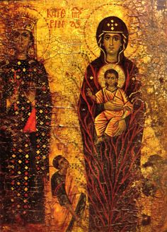 St. Catherine with the Virgin of the Burning Bush, Sinai, 13th century