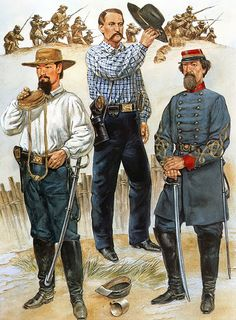 Confederate generals of the West - Basil Duke, John Breckinridge and John Pemberton. Mexican American War, American Civil War, American History, Military Art, Military History, Military Service, Military Uniforms, Southern Heritage, Civil War Photos