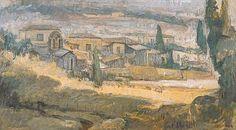 Λαζαρής Θεόδωρος-Κάτω από την Ακρόπολη, 1940 | paletaart – Χρώμα & Φώς