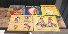 Vintage Activity Books - Set of 12 Kids Activity Books in Box by…
