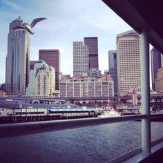 Downtown Seattle from the Bainbridge Ferry