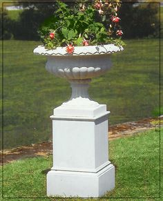 Hampton Vase by The David Sharp Studio Garden Urns, Concrete Planters, Pedestal, The Hamptons, Fountain, David, Gardening, Studio, Outdoor Decor
