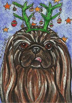 ACEO Pekingese Dog Art by Melinda Dalke 35% donation to the Potomac Pekingese Club, Inc