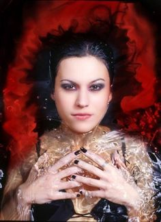 The Strange World Of Frances Mikey Lacuna, Ladies Of Metal, Cristina Scabbia, Heavy Metal Girl, Symphonic Metal, Goth Women, Women In Music, Stevie Ray, Weird World