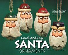 Carving Santa Ornaments - Wood Carving Patterns and Techniques | WoodArchivist.com