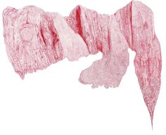Kohei Nawa Psychic Numbing (Red) 2000 Lace Shorts, Ruffle Blouse, Abstract, Modern, Red, Tops, Fashion, Summary, Moda