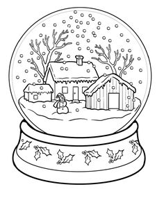 Winter Scene Coloring Pages, winter scene colouring pages