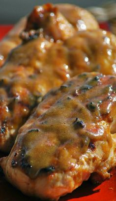 """Grilled Brown Sugar Mustard Chicken Recipe ~ perfect for those """"way to busy to marinate"""" days... It is super simple and lots of flavor."""