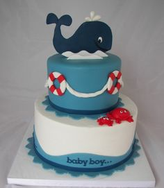 Whale birthday cake...so cute!