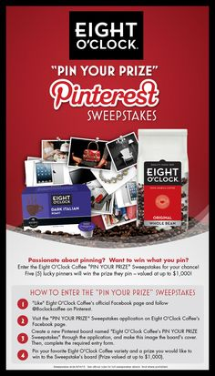 Pin for your chance to win one of Five (5) prizes valued up to $1,000!