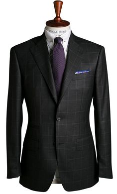 Made-to-measure tailoring house specialising in tailored suits, shirts and overcoats. Suit Fashion, Mens Fashion, Beard Suit, Windowpane Suit, Western Suits, Sharp Dressed Man, Tailored Suits, Suit And Tie, Blazers