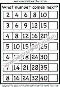 number patterns number series what number comes next 1 worksheet skip counting skip. Black Bedroom Furniture Sets. Home Design Ideas