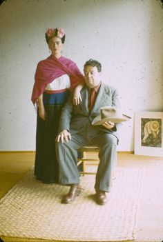 Frida Kahlo and Diego Rivera, 1940 photograph by Nickolas Muray