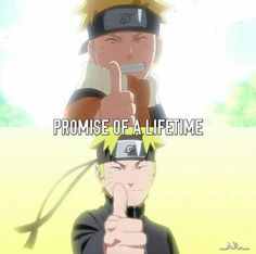 Promise of a lifetime, text, Uzumaki Naruto, different ages, young, childhood, time lapse, thumbs up; Naruto