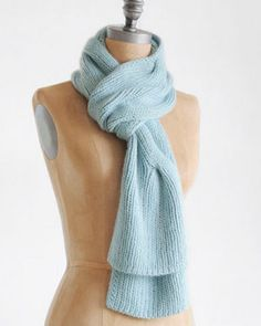 Blue Sky Alpacas Suri Merino Dream Scarf Cable Knitting Pattern