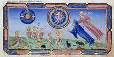Heaven and Earth.       Dante Alighieri TitleDivina Commedia OriginItaly, N. (Tuscany, Siena?) Datebetween 1444 and c. 1450