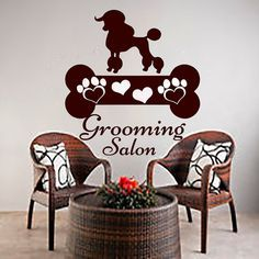 Wall Decals Dog Grooming Salon Decal Vinyl Sticker Pet Shop Scissors Home Decor Interior Design Art Mural MN667