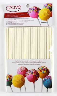 Crave 6-inch Cake Pop Sticks for Treats and Desserts, 75 Count, Colors Vary, 1-pack >>> See this great product.