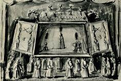 3. А. Тышлер. 'Король Лир'. Эскиз декорации. 1934