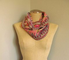 Infinity Scarf  Paisley  Cotton  Loop  Circle Scarf by EyeCandy395, $20.00