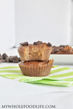Flourless Peanut Butter Muffins  (sub nut butter or homemade raw sunflower seed butter) #justeatrealfood #mywholefoodlife