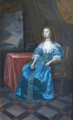 ca. 1640 Noblewoman, said to be Queen Henrietta Maria, by follower of Daniel Mytens