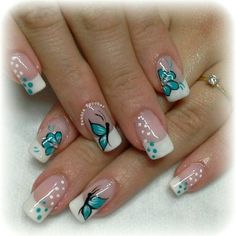 Hot Trendy Nail Art Designs that You Will Love Spring Nail Art, Nail Designs Spring, Gel Nail Designs, Spring Nails, Summer Nails, Nails Design, Fingernail Designs, Fancy Nails, Trendy Nails