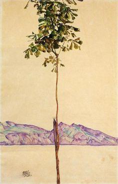 Egon Schiele: Chestnut tree on Lake Constance