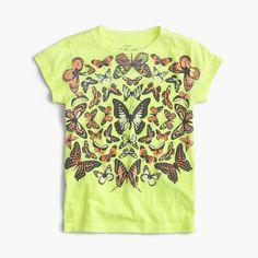 Girls' butterfly T-shirt