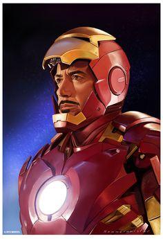 Iron Man piece for Marvel Avengers Age of Ultron show Marvel Comics, Marvel Fan, Illustration Example, Portrait Illustration, Iron Man Armor, Thor, Iron Man Tony Stark, Avengers Age, Hulk