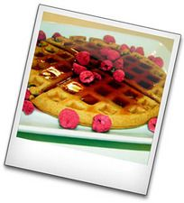 Cooking with Food Storage: Peanut Butter Waffles with Raspberry Syrup