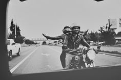 engagement, couples, motorcycle, edgy couple, love the pose, location, fun idea