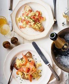 smoked salmon and scrambled eggs from the Booths Christmas book 2014 by smithandvillage. Photography by Craig Robertson and food by Angela Boggiano