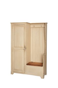 Settle Bench Armoire by the door