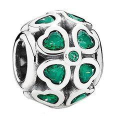 PANDORA Charm Green Lucky Clover 791496CZN Pandora http://www.amazon.com