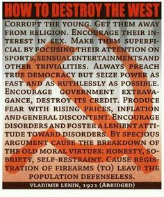 How to destroy the West - Wake up America as this has been happening under this Obama Administration!