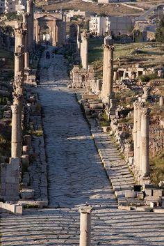 Walking the Path at Jerash, Jordan http://exploretraveler.com http://exploretraveler.net