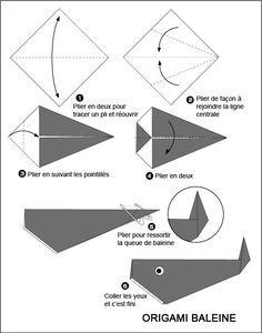 Easy Origami For Kids. ACTUALLY easy peasy. Was the first origami I ever succeeded with! Whale Origami, Instruções Origami, Origami Simple, Easy Origami For Kids, Origami And Kirigami, Origami Dragon, How To Make Origami, Useful Origami, Origami Stars