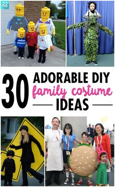 Not only are these Halloween costumes adorable and easy to DIY, but they also allow the whole family to dress up and step out in style.