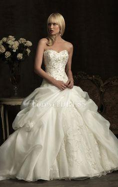 Innamorato Fabulous scollatura senza bretelle della sfera bianco abito da sposa abito con gonna asimmetrica ritiro