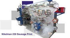 Nikelman® 230 Sausage Print предназначена в главной мере для печати на сосисочных оболочках при очень большой скорости — до 250м/мин. Nikelman® 230 Sausage Print печатает до 4 цветов по обеим сторонам материала красками на основе растворителя и водными.  #nikelman #flexography