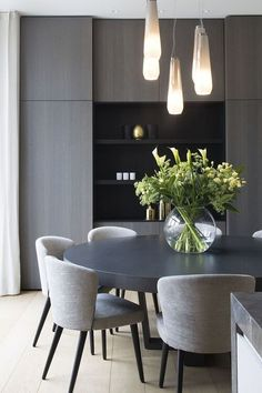 13 Free Dining Room Table Plans For Your Home Contemporary Dining Room Design Modern Dining Room Design With White Walls Modern Dining Room Table Modern Dining Room Chairs And Modern Chandelier Neutral Dining Room Decor Round Table And Chairs, Dining Table Chairs, Round Dining Room Sets, Designer Dining Chairs, Modern Dinning Room Ideas, Modern Dining Room Chairs, Large Round Dining Table, Modern Dining Table Sets, Velvet Dining Chair