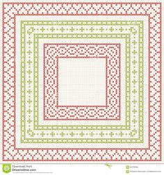 cross-stitch-embroidery-set-borders-pattern-thin-geometric-frames-classic-style-red-green-vector-63436356.jpg 1,300×1,390 pixels