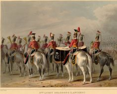 The  17th. Light Dragoons (Lancers). Review order