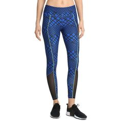 2(X)Ist Core Leggings (£44) ❤ liked on Polyvore featuring pants, leggings, blue, legging pants, blue pants, blue trousers and blue leggings