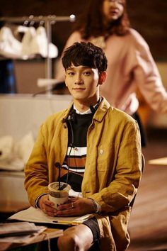 Chen - 160415 'Lil' Something' promotional image Credit: Bugs. Exo Chen, Baekhyun Chanyeol, Kris Wu, Luhan And Kris, Daejeon, Tao, Kim Jong Dae, Korean Boy, Korean Drama